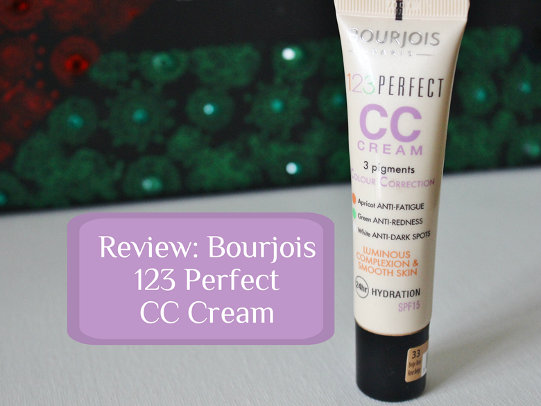 review bourjois 123 perfect cc cream the blushing giraffe. Black Bedroom Furniture Sets. Home Design Ideas