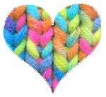 hjerte strikk