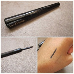 love & beauty liquid liner swatch, bitsandtreats