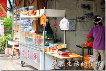 『萬丹采風社紅豆餅』的外觀。