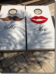 Mr. Mrs. corn hole boards