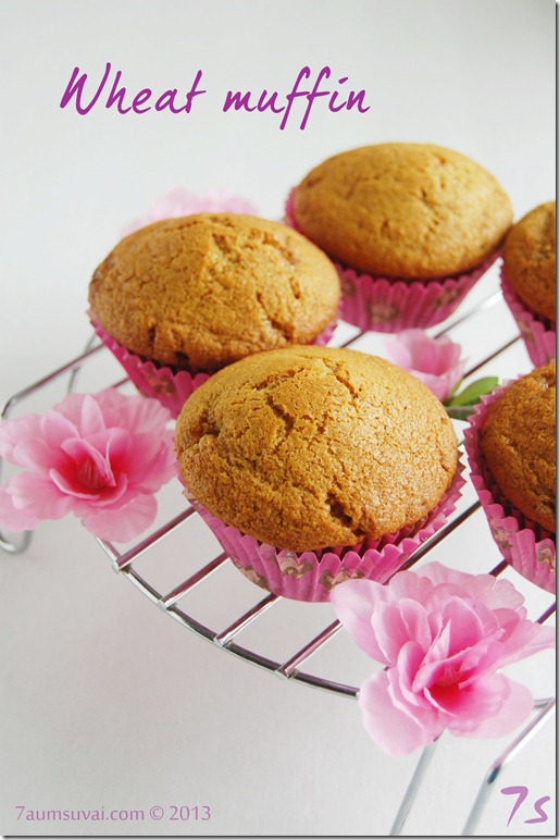Eggless wheat muffin