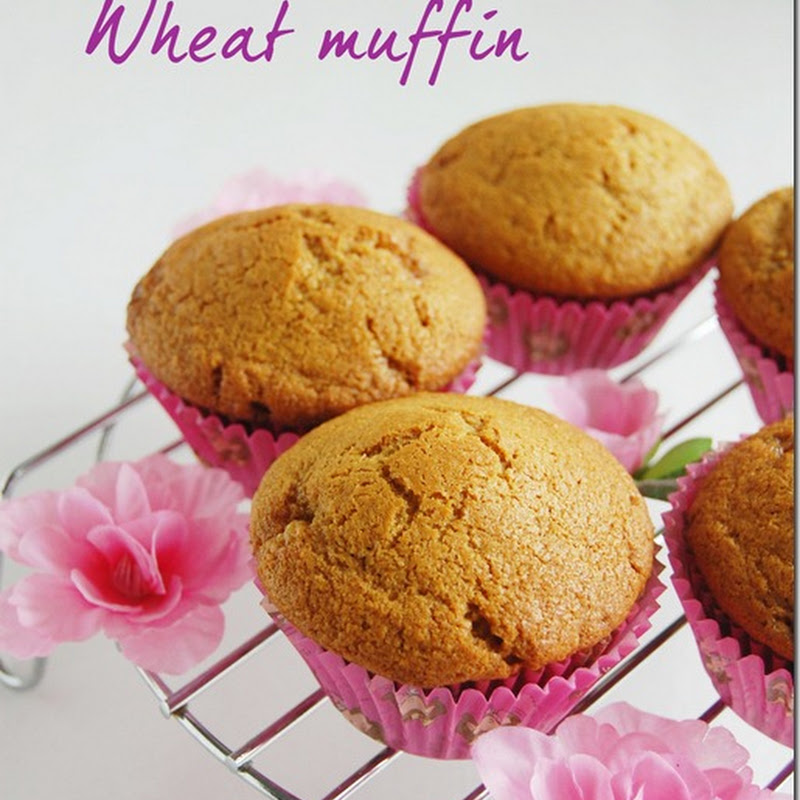 Eggless wheat muffin with jaggery
