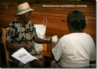 A blood sugar screening tagged