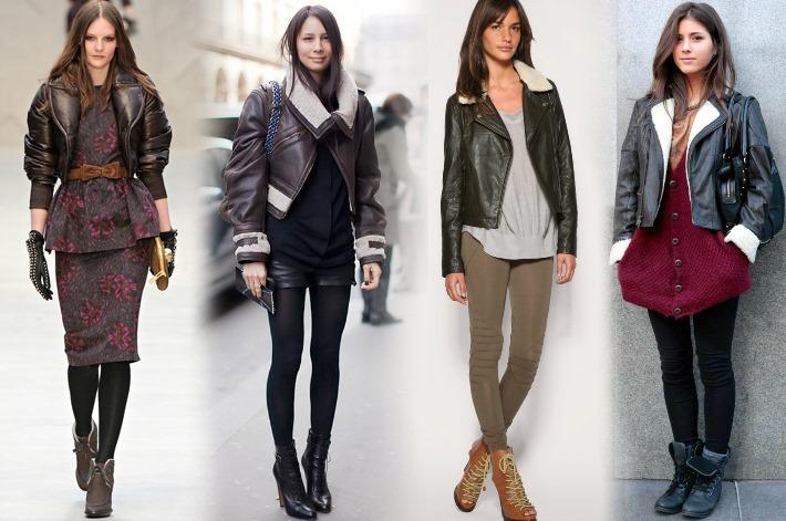 jaqueta couro aviador feminina