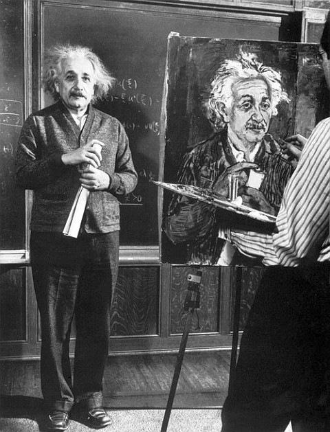 Кто рисует Альберта Эйнштейна?