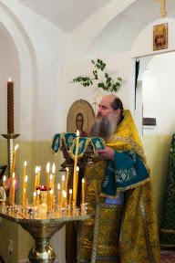 Первая литургия на Подворье. Троица 2014