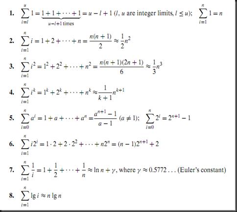 6.1.1 Summation Notation And Formulas