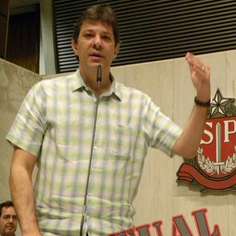 Fernando Haddad rumo a cadeira de ouro da Cidade de São Paulo.