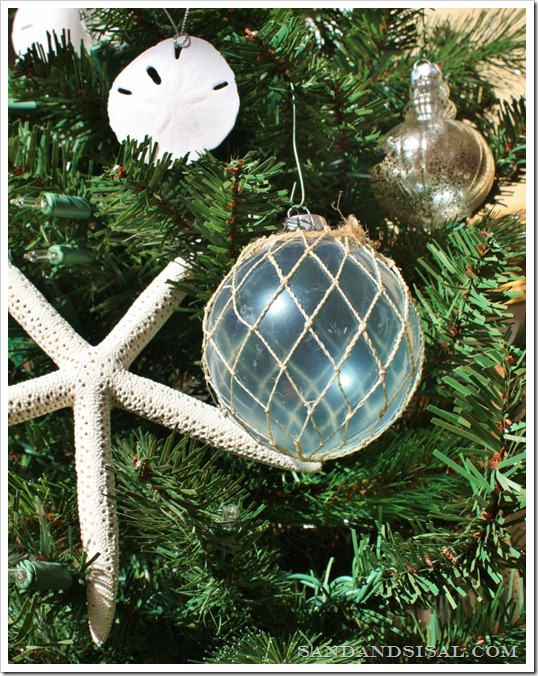 Glass Float Ornaments and starfish 