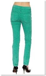 Skinny Cord Jean in Emerald