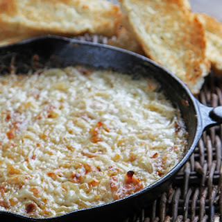 Hot Caramelized Onion Dip With Bacon & Gruyere