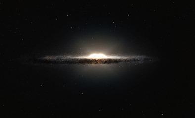 impressão artística do bojo central da Via Láctea