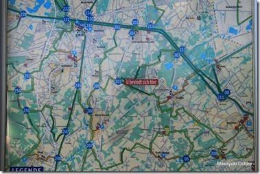 自転車ルートマップ Fietsroute  /Kaulille - 205 - 203 - 211 - 08 - Bocholt - 208 - 06