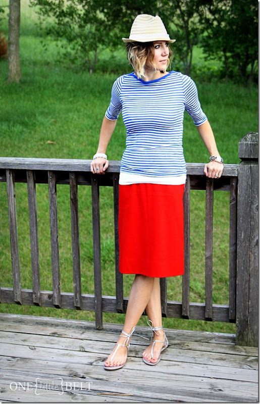 Red, white and blue style- style for a casual Summer date from ONE little MOMMA