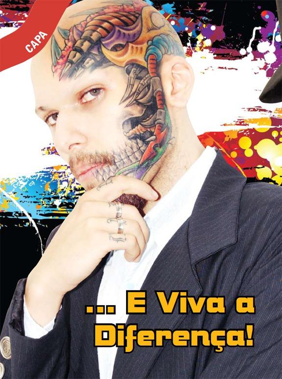 tattoo irada no rosto marculino