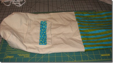 lining ready to stuff in bag