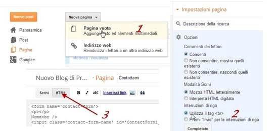 pagina-statica-blogger
