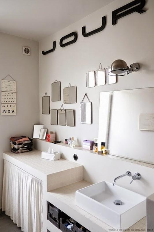 Simona elle fare casa piccole e grandi modifiche prima - Specchi in bagno ...