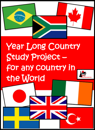 Year long country study project that allows students to explore all of the main ideas of science - earth science, life science and physical science and social studies - geography, history, culture, government and economics - all while exploring one self chosen country.  Resources from Raki's Rad Resources.