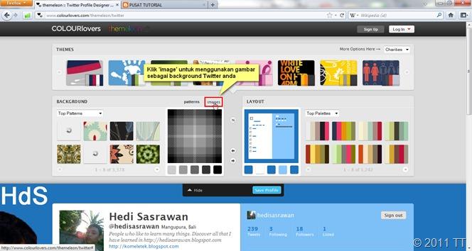 klik 'image'