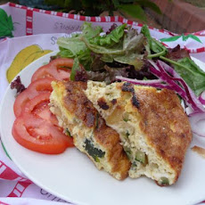 Courgette and Feta Cheese Frittata