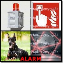 ALARM- 4 Pics 1 Word Answers 3 Letters