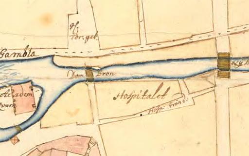 Karta över Fyristorg, 1702