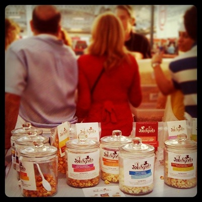 Crowds gathering to try Joe and Seph's gourmet popcorn at Masterchef Live