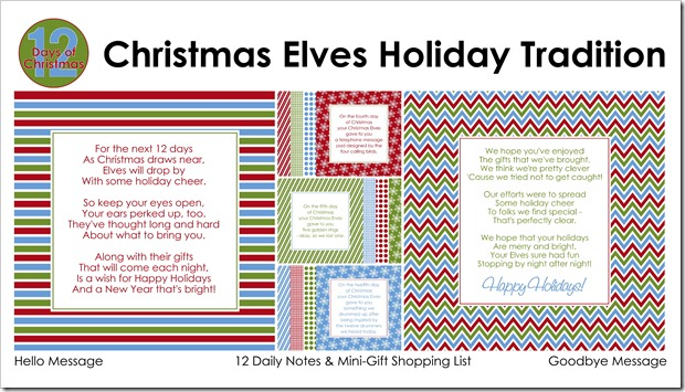 12 Days of Christmas - Christmas Elves Holiday Tradition - PACKAGE LOGO - Sprik Space