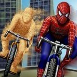 Jogo de bicicleta do Homem Aranha