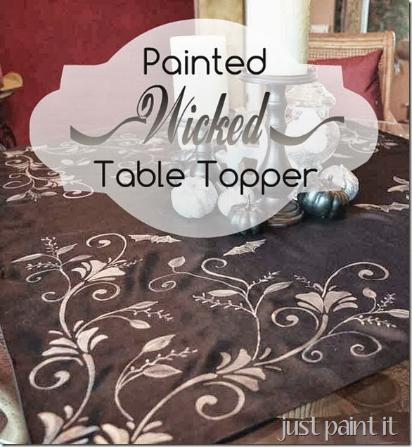 Painted Wicked Table Topper