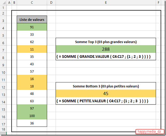 Excel-somme-top-X