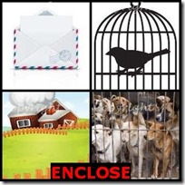 ENCLOSE- 4 Pics 1 Word Answers 3 Letters