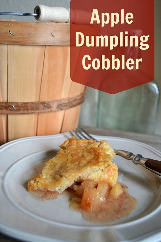 Apple Dumpling Cobbler Recipe #fall #dessert