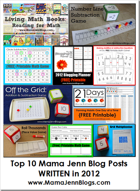 Top 10 Mama Jenn Blog Posts WRITTEN in 2012