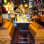 coffins at famous Toilet Restaurant Das Klo in Berlin in Berlin, Berlin, Germany