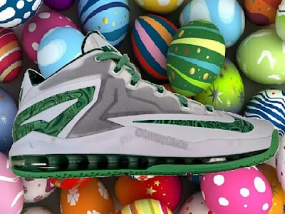 2013 lebron11 low easter First Look at Nike LeBron XI Low, aka 9 3/4, in Two Styles