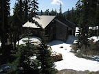 The lodge is not accessible by road until the snow clears in mid to late June. When snow is on the ground, there is a Sno-Park parking lot about 1/4 mile down the trail.