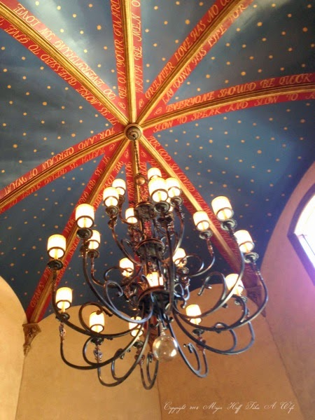 Dining Room Ceiling with chandelier
