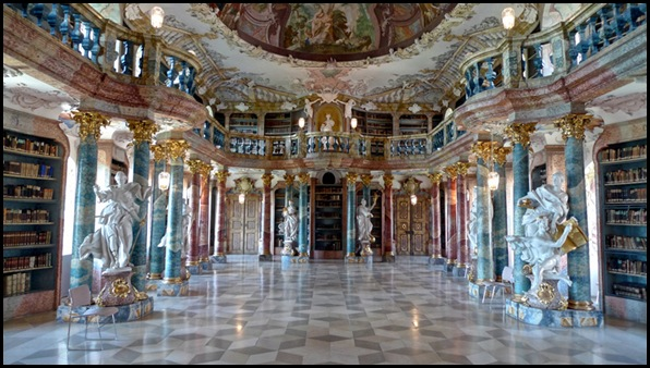 Bibliothèque du Monastère de Wiblingen, Ulm, Allemagne -1