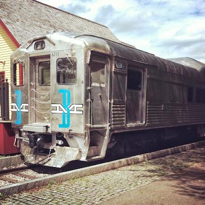 折り返し地点のBedford Depot Parkにある古い電車