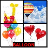 BALLOON- 4 Pics 1 Word Answers 3 Letters