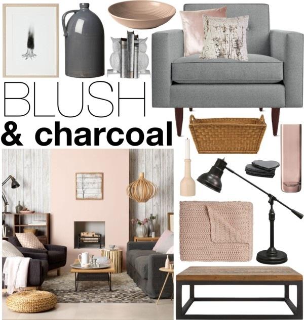 Blush & Charcoal - soggiorno -camino