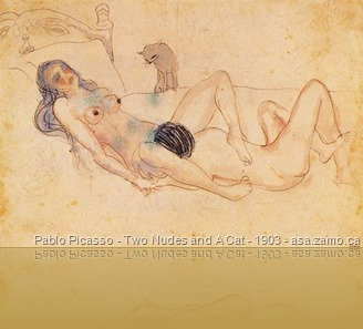 Picasso-TwoNudesAndACat-1903