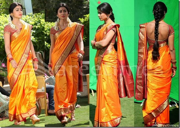 Shriya_Orange_Traditional_Saree