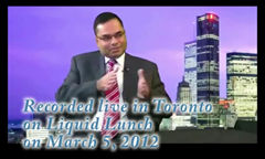Promod Sharma live on Liquid Lunch