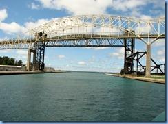 4991 Michigan - Sault Sainte Marie, MI -  St Marys River - Soo Locks Boat Tours - International Bridge