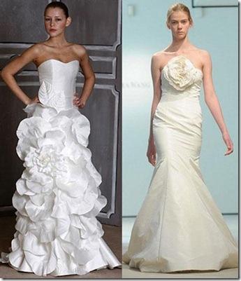 vestidos hermosos para novias sencillos y strapless 2013