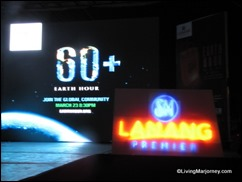 Celebrating Earth Hour 2013 at SM Lanang Premier in Davao